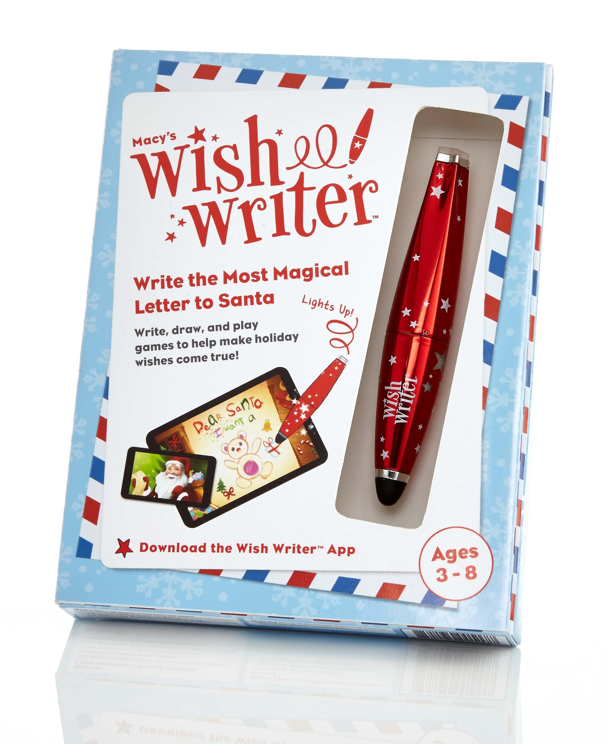 With Macy's new Wish Writer stylus and app, kids can play interactive games and write magical letters to Santa; $14.99 each, one dollar from each purchase will be donated to Make-A-Wish® (Photo: Business Wire)