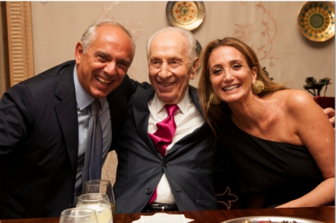 The idea that innovation can be a path to peace is symbolized by the new Innovation Program at the Peres Center for Peace in Jaffa, Israel. Mr. Isaac Dabah, CEO of Delta Galil Industries, and his wife Ivette, recently honored Shimon Peres, former President of Israel, for the Peres Center's visionary programs. As a long-time advocate of a multi-cultural workforce, Delta Galil and Mr. Dabah share President Peres' commitment to peaceful coexistence through innovation and shared economic success.  (Photo: Heidi Green Photography)