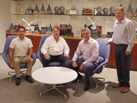 Photo L to R: CNG station Owners - Khraish Khraish, John Carney and Dmitri Tisnoi; Jason Cinek, TDIndustries (Photo: Business Wire)