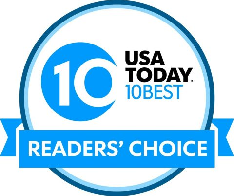 "HomeExchange.com is proud to announce its selection as the winner of USA TODAY 10Best ""Readers' Choice Awards"" in the budget category for ""Best App/Website for Booking Your Stay."" (Graphic: Business Wire)"