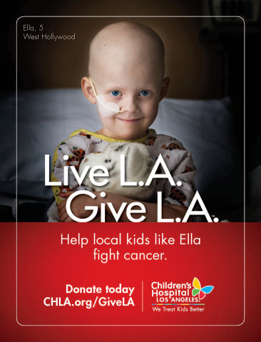 Children's Hospital Los Angeles Announces Second Annual 'Live L.A. Give L.A.' Fundraising Campaign. Family-Friendly Holiday Activities Provide Opportunities to Support Care for 107,000 Young Patients Treated Each Year for Life-Threatening Illnesses. (Graphic: Business Wire)