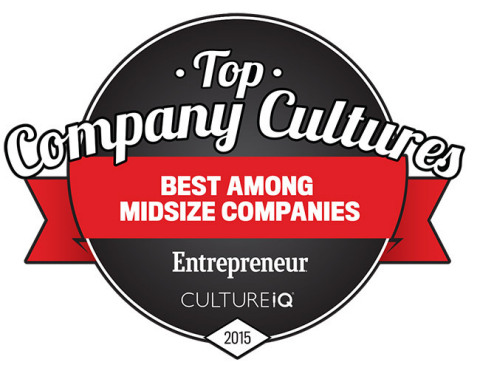 PAN Communications, ranked 17th for Top Company Cultures among midsize companies from Entrepreneur. (Graphic: Business Wire)