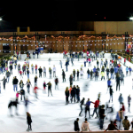 Guests at Viejas Outlets enjoying the holiday tradition of winter play on Southern California's largest outdoor ice skating rink. (Photo: Business Wire)