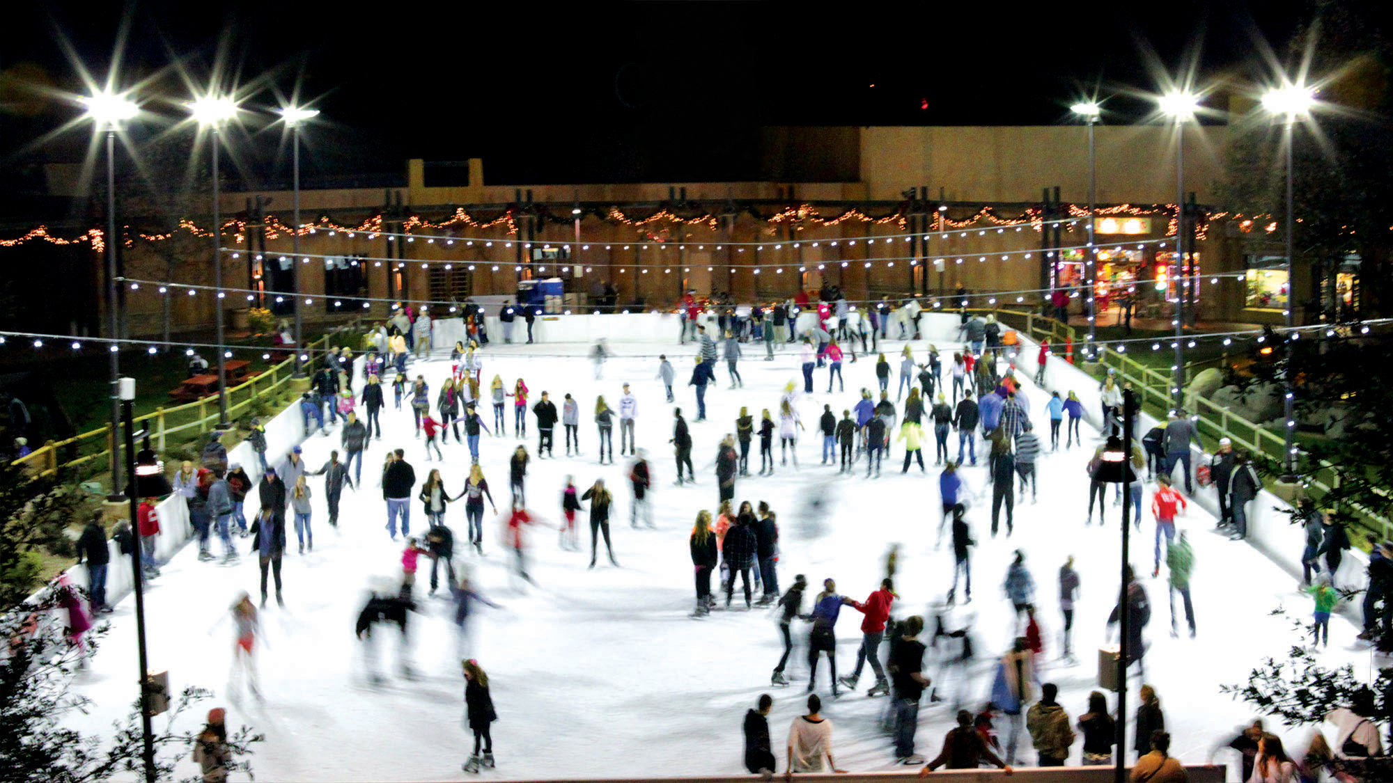 viejas casino resort opens their holiday ice skating rink