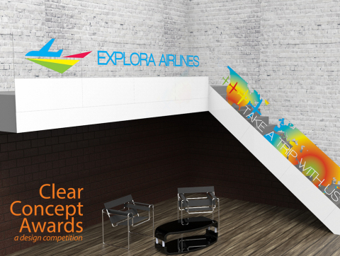 Planar Clear Concept Award Using Planar LookThru OLED Transparent Diplays Example - Stairs (Photo: Business Wire)