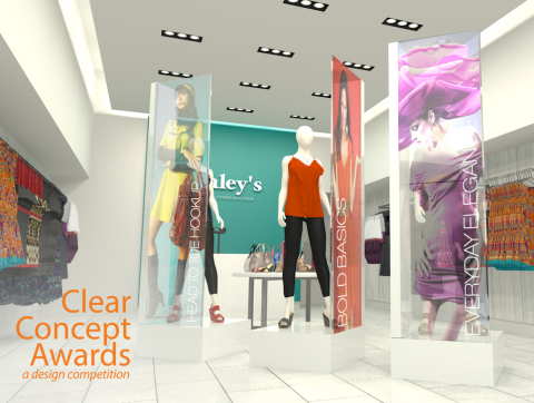Planar Clear Concept Award Using Planar LookThru OLED Transparent Diplays Example - Retail (Photo: Business Wire)