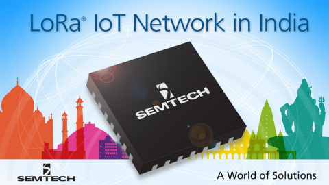 Semtech and Tata Communications Partner to Build Internet of Things Network in India. (Graphic: Business Wire)