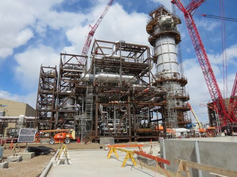 Shell's Quest Carbon Capture and Storage (CCS) project near Fort Saskatchewan, Alberta, Canada. (Pho ...