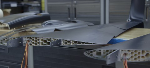 Aurora's UAV demonstrates Stratasys FDM-based 3D printing solution's ability to build a completely enclosed, hollow structure which, unlike other manufacturing methods, allows large - yet less dense - objects to be produced. Photo: Stratasys
