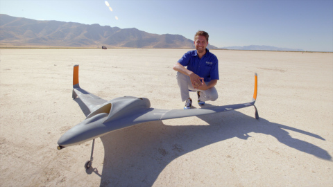 According to Dan Campbell (pictured) from Aurora Flight Sciences, the new UAV is believed to be the largest, fastest, and most complex 3D printed aircraft ever produced. Photo: Stratasys