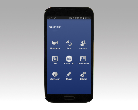 The innovative CipherTalk® secure mobile phone delivers military-grade end-to-end encrypted voice an ...