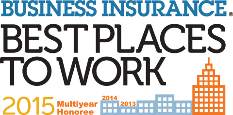 Energi Recognized as One of Best Places to Work in Insurance by Business Insurance (Graphic: Business Wire).