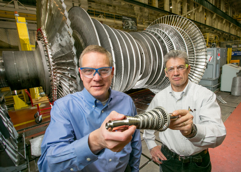 Doug Hofer, a GE steam turbine specialist, and Vitali Lissianski, a chemical engineer in GE's Energy ...