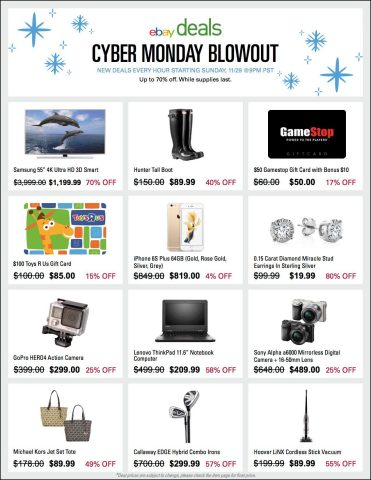 eBay Cyber Monday Deals (Graphic: Business Wire)