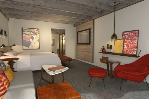 A guestroom rendering at Andaz Scottsdale Resort & Spa (Graphic: Business Wire)