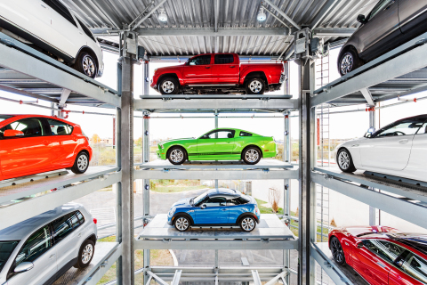 Carvana's multistory, automated car Tower at the Nashville Vending Machine is a first of its kind. (Photo: Business Wire)