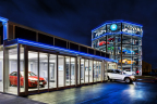 Soda machines had a good run, but it's time for something new. Check out Carvana's car Vending Machine, stocked with the most delicious four-wheeled treats. (Photo: Business Wire)