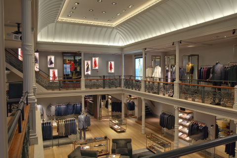 Soraas perfectly tailored LED lighting makes Gieves & Hawkes' flagship London store shine. (Photo: Business Wire)