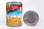 SpaghettiOs Original 14.2 oz cans with a date of February 22, 2017 are being voluntarily recalled due to a potential choking hazard posed by pieces of red plastic found in a small number of cans. (Photo: Business Wire)