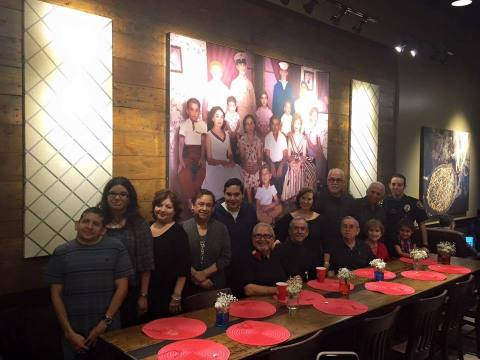 Jesse Trevino artwork unveiled during the Starbucks - Goodwill San Antonio partnership, Veterans Day celebration. (Photo: Business Wire)