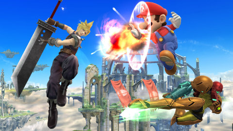 Cloud Strife, the legendary protagonist from the classic RPG game FINAL FANTASY VII, will enter the battlefield as a playable fighter in Super Smash Bros. for Wii U and Super Smash Bros. for Nintendo 3DS in the future. (Photo: Business Wire)
