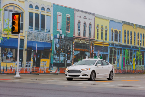 Fusion Hybrid Research Vehicle at Mcity (Photo: Business Wire)