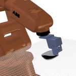 Simulation of ABB robotic arm, enhanced with Arevo Labs software, performing 3D printing tasks. (Photo: Business Wire)