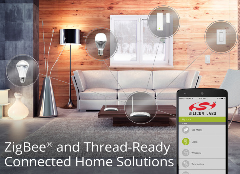 Silicon Labs Debuts ZigBee and Thread-Ready Connected Home Solutions (Graphic: Business Wire)