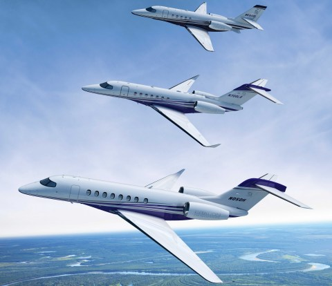 The Longitude and Hemisphere will join the Citation Latitude to complete a new, large-cabin, three-a ...