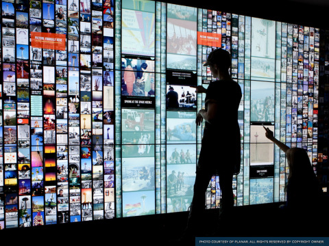 Planar Clarity Matrix Interactive Touch Video Wall at the Space Needle (Photo: Business Wire)