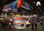 Axalta Coating Systems' indoor booth at SEMA featured 90 years of iconic car colors and provided a sneak peek into the future of automotive coatings. (Photo: Axalta)