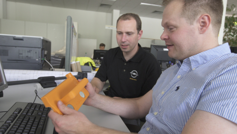 With Stratasys 3D printing, any design iterations to the manufacturing tools are easily accommodated in a matter of hours, eliminating costly iterations further along the production process. Photo: Stratasys
