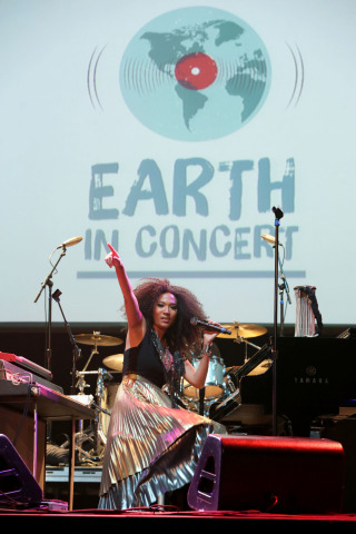 LOS ANGELES, CA - NOVEMBER 11: Judith Hill performs at Earth in Concert at Club Nokia on November 11, 2015 in Los Angeles, California. (Photo by Rebecca Sapp/WireImage)