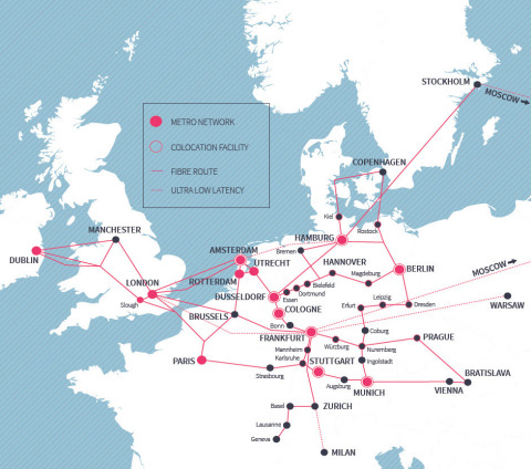 euNetworks footprint (Graphic: Business Wire)