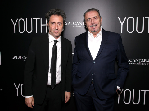 Paolo Sorrentino and Alcantara CEO Andrea Boragno (Photo: Business Wire)