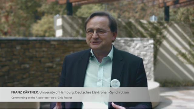Franz Kartner, University of Hamburg, Deutsches Elektronen-Synchrotron (DESY), marvels on the shrinking of accelerators with the accelerator-on-a-chip project