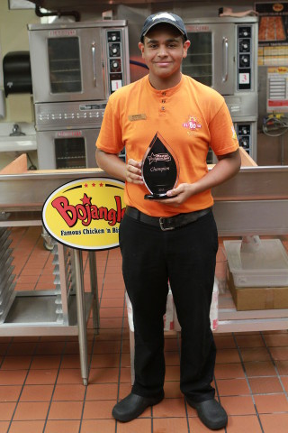 Royce Vereen of Myrtle Beach, S.C. was named Master Biscuit Maker representing Bojangles' franchised locations.  (Photo: Business Wire)