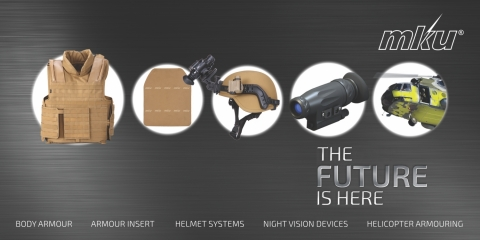 Future generation personal armour solutions for defence and security personnel at Milipol 2015 in Paris, France (Graphic: Business Wire)