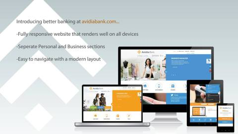 Introducing better banking at the NEW avidiabank.com (Graphic: Business Wire)