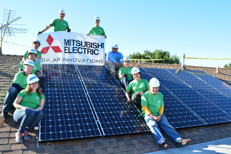 both amn of mobilizing pv petronas amandalmy with mitsubishi corporation mounting organization panels solar and sets challenge expertise the