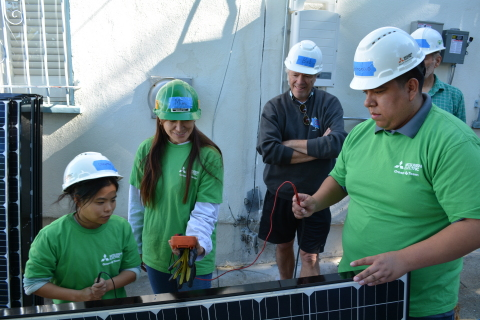 At the second installation, volunteers installed a 2.7kW solar system. (Photo: Business Wire)