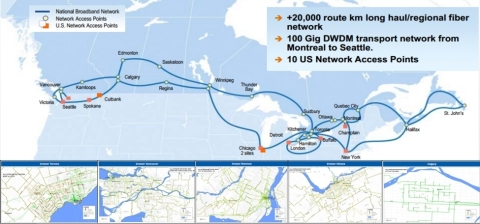 Allstream Intercity and Select Metro Fiber Networks (Graphic: Business Wire)