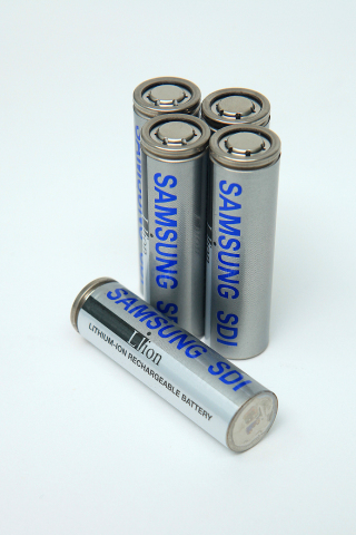 Samsung SDI's high-performance 18650 battery, which will be inserted in JAC Motors's new electric SUV iEV6S. (Photo: Business Wire)