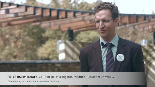 Co-Principal investigator, Peter Hommelhoff, Friedrich-Alexander University (Germany), discusses the importance of funding the accelerator-on-a-chip project and the support from the Gordon and Betty Moore Foundation