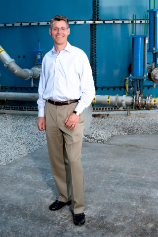 Christian G. Kasper at Harvest Power's anaerobic digestion energy garden in Florida (Photo: Business Wire)