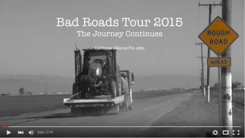 New video from the California Alliance for Jobs shows what 25% of local roads in the state will look like in 10 years unless Legislature acts. (Photo: Business Wire)