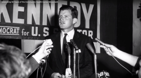 Senator Kennedy ignited the modern healthcare reform movement after Columbia Point was founded in Dec. 1965 (Photo: Business Wire).