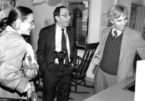 Dr. H Jack Geiger (center), who founded the nation's first community health center at Columbia Point in Dorchester, MA (Photo: Business Wire).