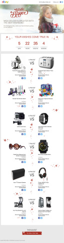 Launching on Thanksgiving Day (Nov. 26), for one day only the eBay Wish Bigger Wishbone will let shoppers vote for the holiday deals they want. (Graphic: Business Wire)