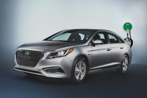 Hyundai Motor Company picks AeroVironment to supply and install dealer EV charging stations for its all-new Sonata plug-in hybrid, the seventh global automaker to choose AeroVironment. (Photo: Business Wire)